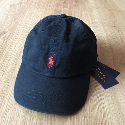 ff7cdadca82  kalvansshop. 9 months ago. Великобритания. Adults One Size Ralph Lauren  Cap Hat Polo Black With Red Pony