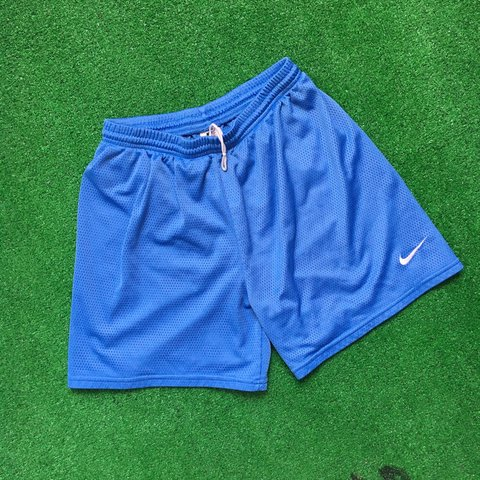 cb5a05dd88d @souldoutvintage. 11 months ago. Providence, United States. Vintage 90s Nike  Baby blue mesh basketball soccer athletic shorts size large!