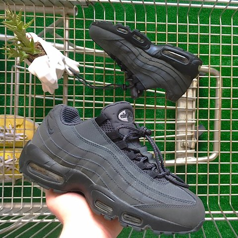 1b819b6bf2848 Nike Air Max 95 Essential Anthracite Murdered Out Black size - Depop