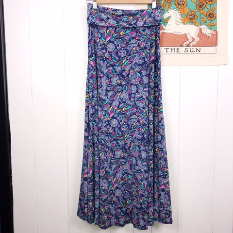 ab5e4ef0bfa294 LuLaRoe Paisley Geometric Feather Maxi Skirt Size-Women's - Depop