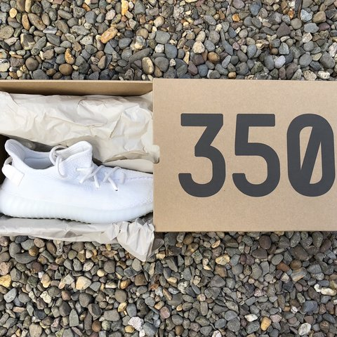 8190c7c11 Adidas Yeezy Boost 350 V2 Triple White UK from ADIDAS - Depop