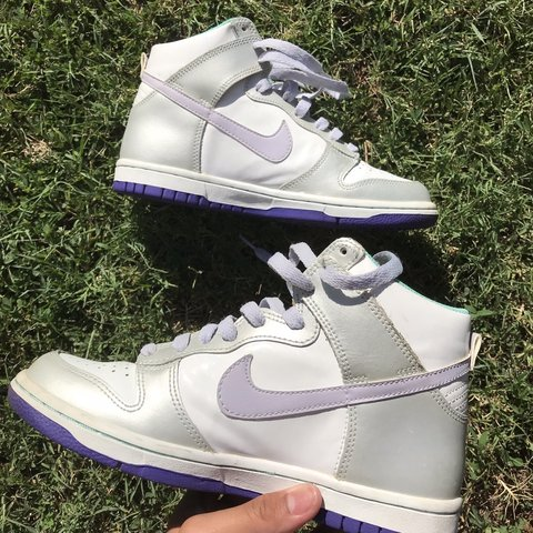 28c82729d7a5 WOMENS  YOUTH NIKE SB DUNK HIGH GS 🚺🚺 ON HOLD ❗ ❗ purple - Depop