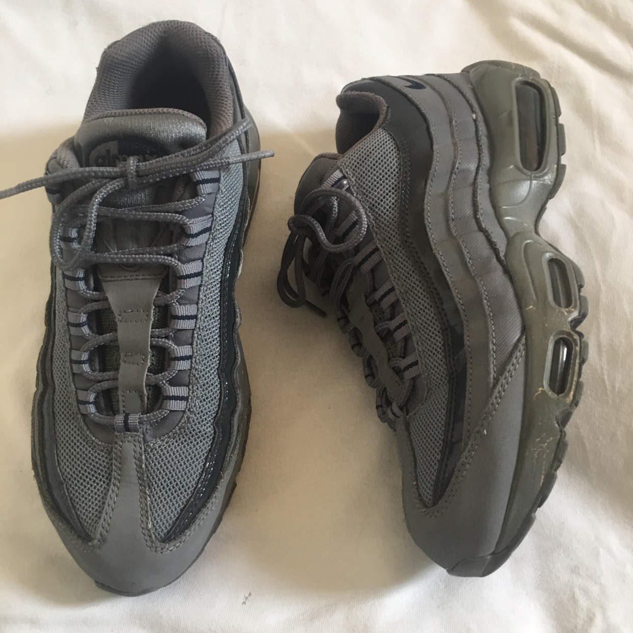 Nike grey air max 95 UK SIZE 6 with 3M reflective...