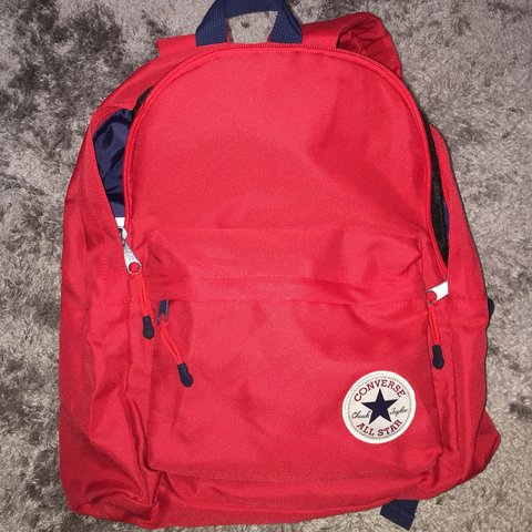 Red converse backpack. Only used once 6a3566def58a9
