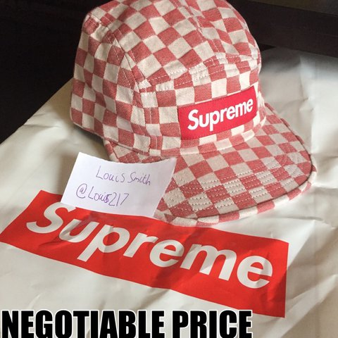 35a538dd @louis217. last year. Harrogate, United Kingdom. Supreme Checkerboard Box  Logo Hat/Cap SS18 100% Cotton Adjustable Size will fit anyone