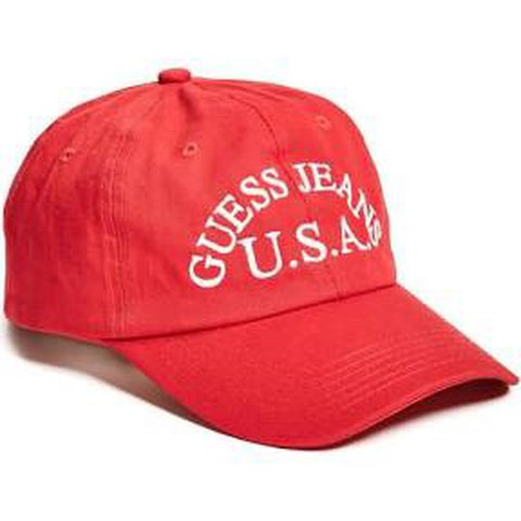 """BRAND NEW bright red """"GUESS JEANS USA"""" hat. One size b324e6985f3b"""