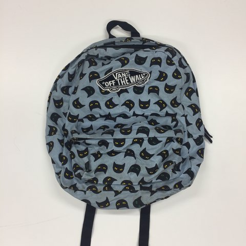 cfe2346079 Vans cat backpack! This is marked and has general wear to it - Depop