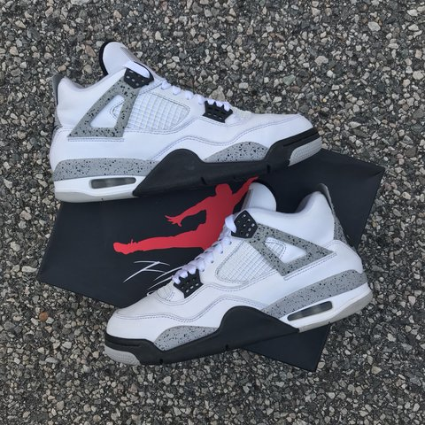 fbab3797b35904 Jordan Cement 4 s - Size 8 - 8.5 10 condition. Small scratch - Depop