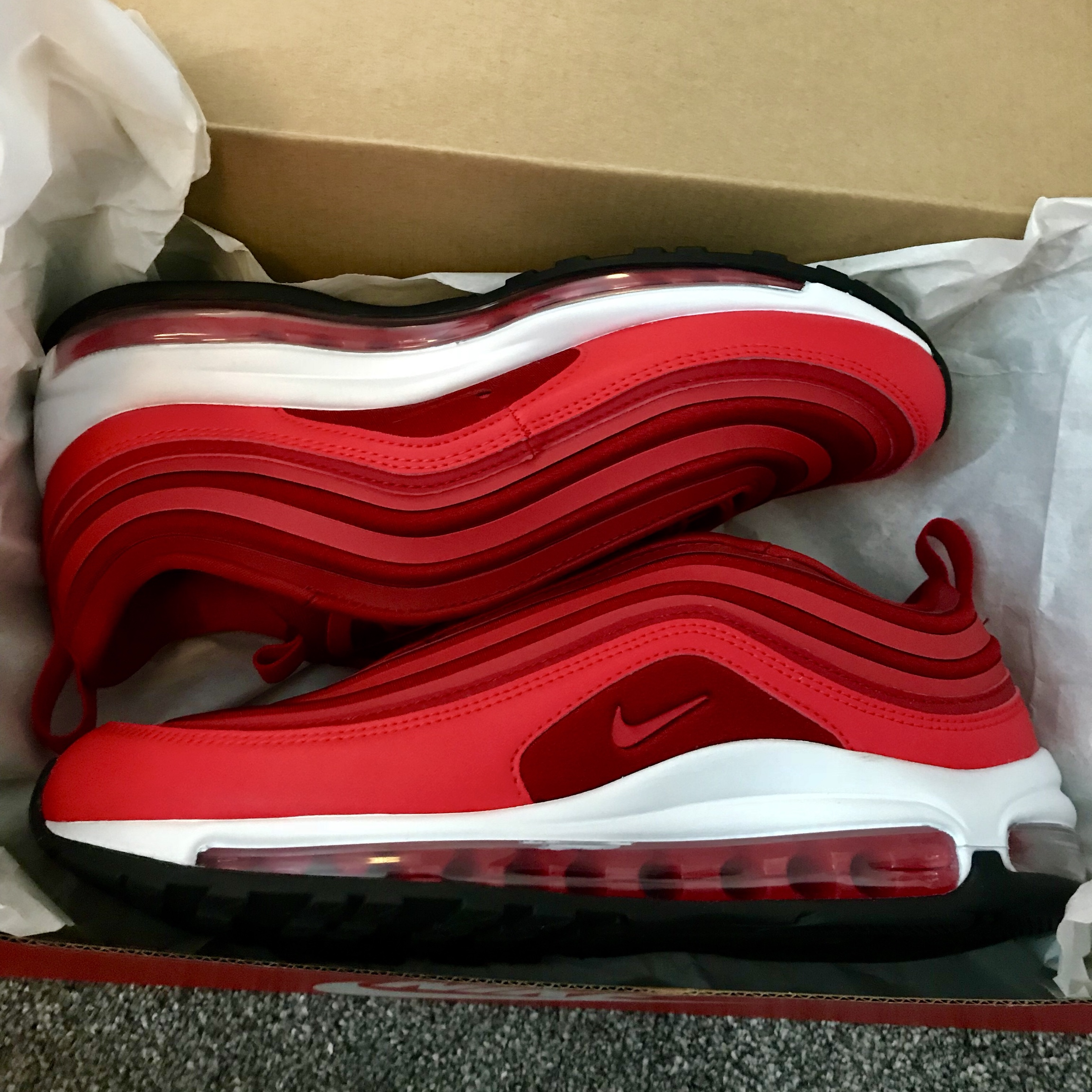 "online retailer 8d1fa 552e2 Nike Air Max 97 Ultra Red Women's ""Valentine Day Red... - Depop"