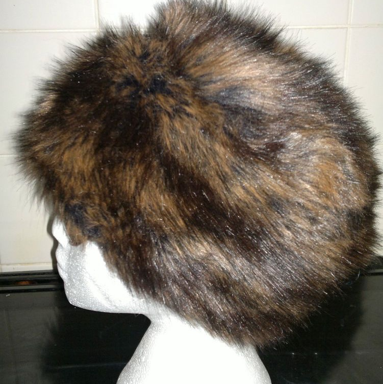 7d1024b81 Russian Cossack style faux fur hat with a speckled... - Depop