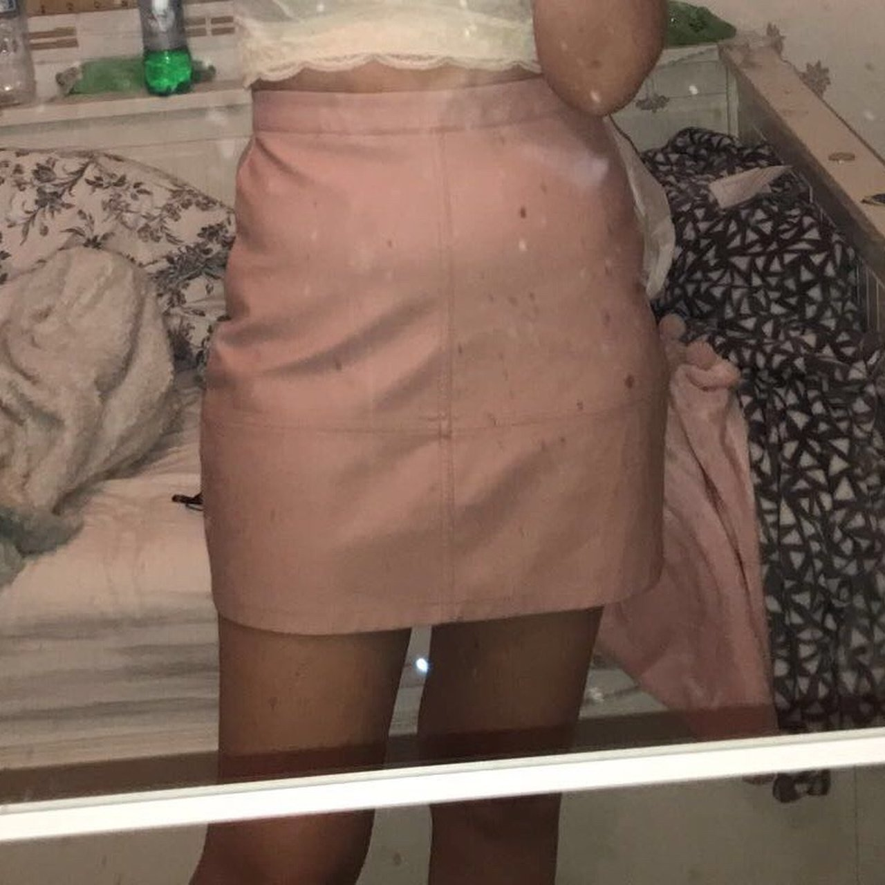 0969f6765 New Look Pink Leather Look Skirt