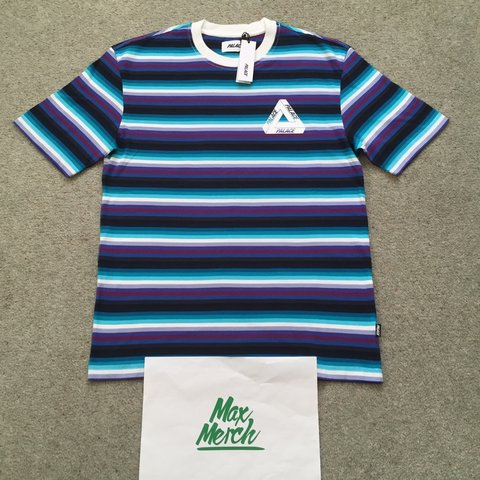 0ee1dc9a480b Palace thin stripe tee brand new size small. Taking offers ! - Depop