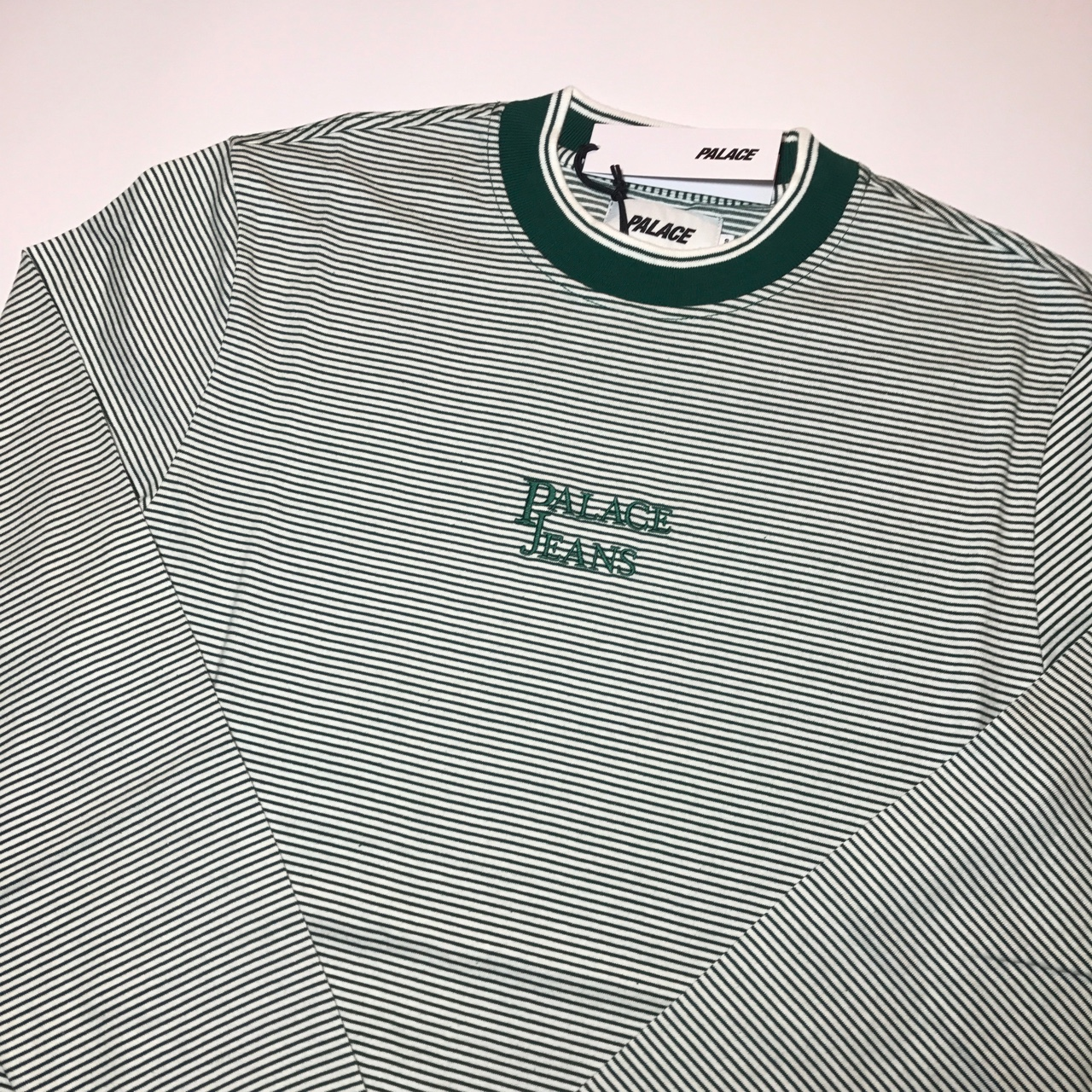 Palace Jeans LS green▪️Size small▪️Brand new▪️ Depop
