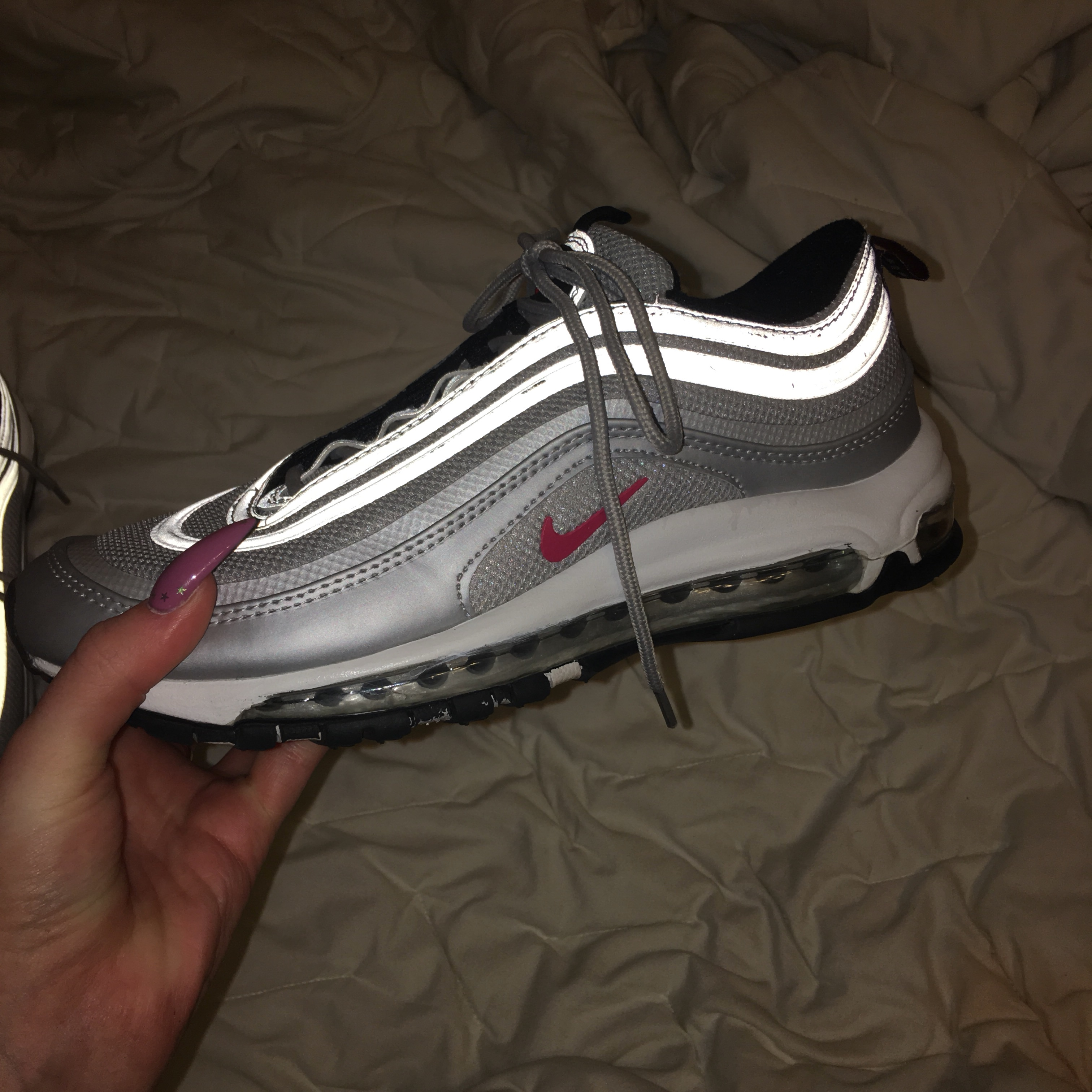 Air max 97 silver bullet women's size 9