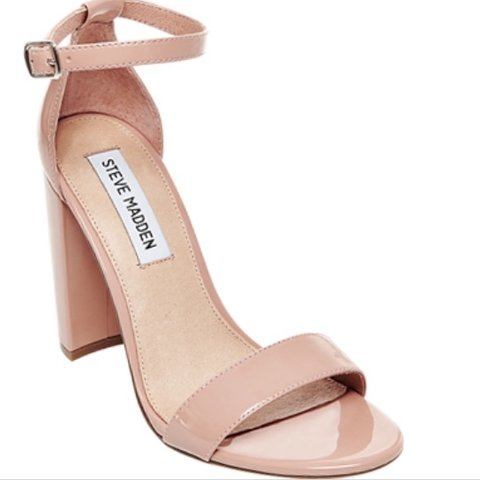 f55d9779712 The Steve Madden Carrson Blush Patent Ankle Strap Heels are - Depop