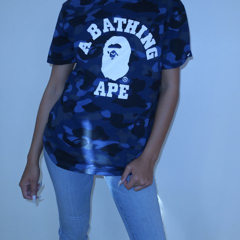 76bc8fb0 Bathing ape college tee❄ Tags still attached #bape #tee - Depop
