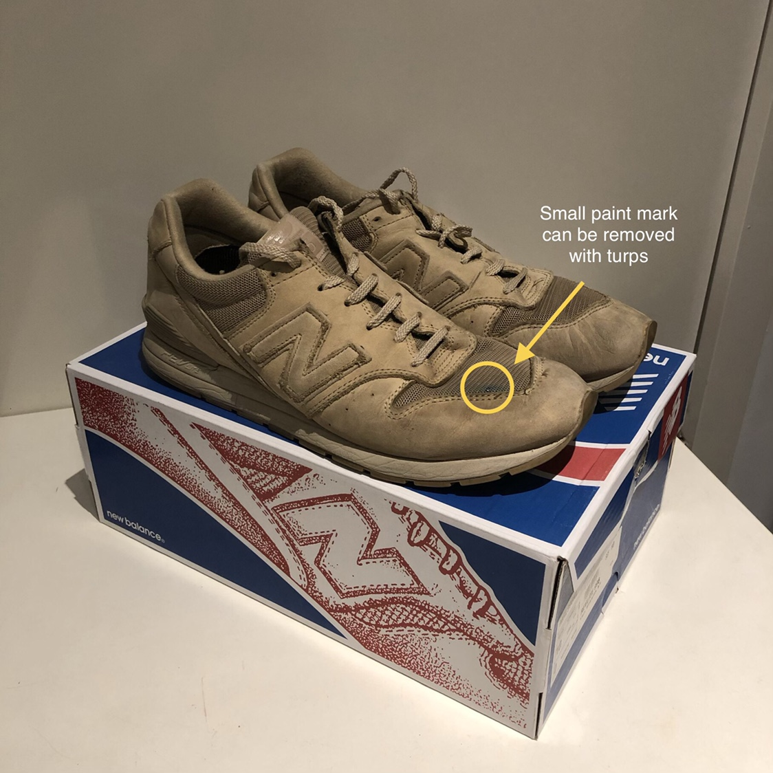 cheap for discount fe45b 435a6 NEW BALANCE 996 SUEDE BEIGE - MRL996KL US 10/UK ...