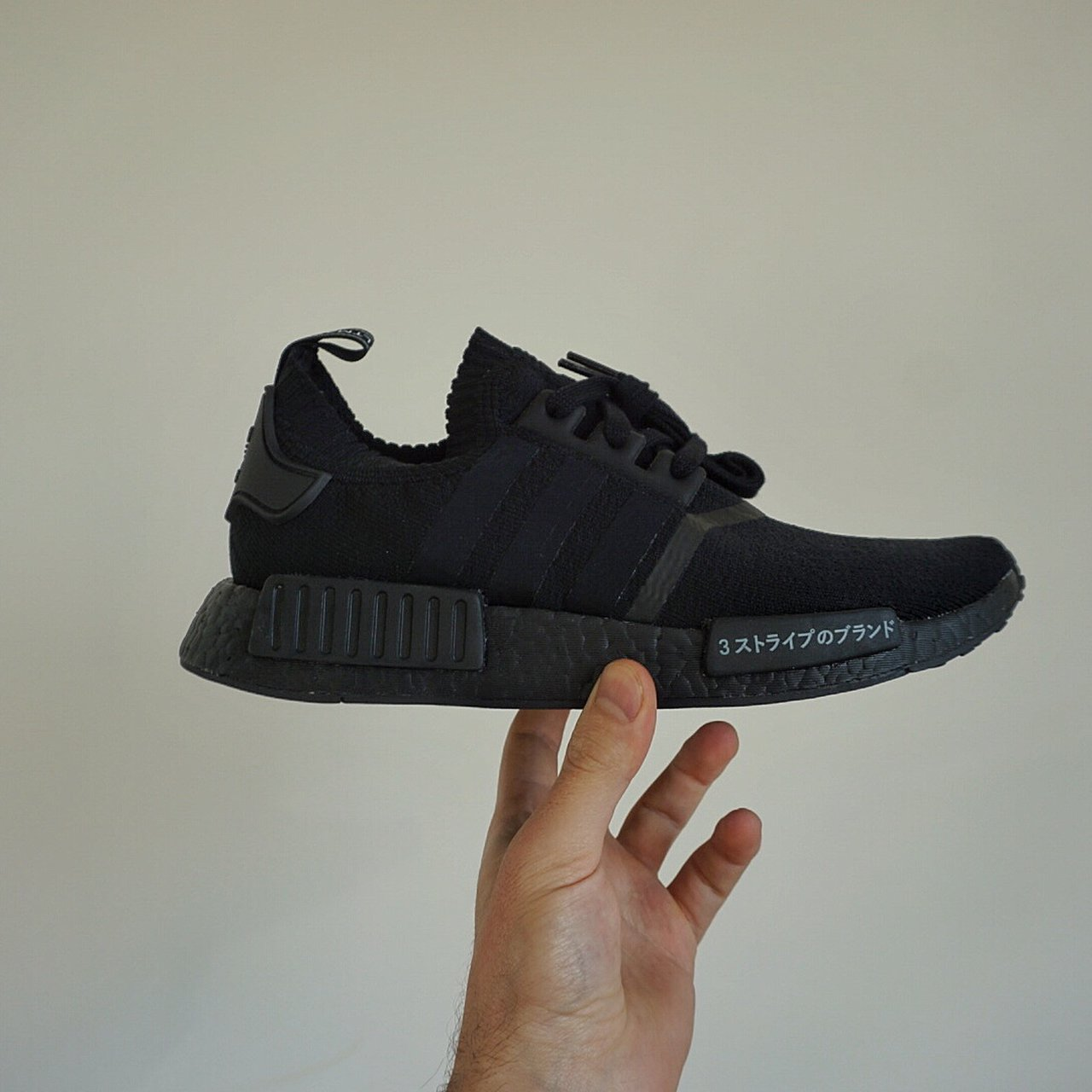 278538a5f985 Adidas NMD R1 PK Japan Triple Black US 8 1 2 -New with box - Depop