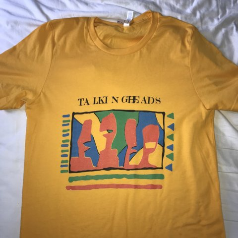e1a86b3c Talking heads band tee Perfect condition, never worn Size~ - Depop