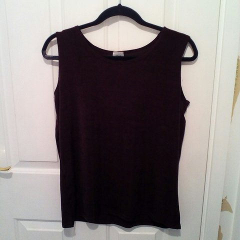 96aeb9d25ac Very dark purple vest top Fits a size 8-12 Free shipping s - Depop