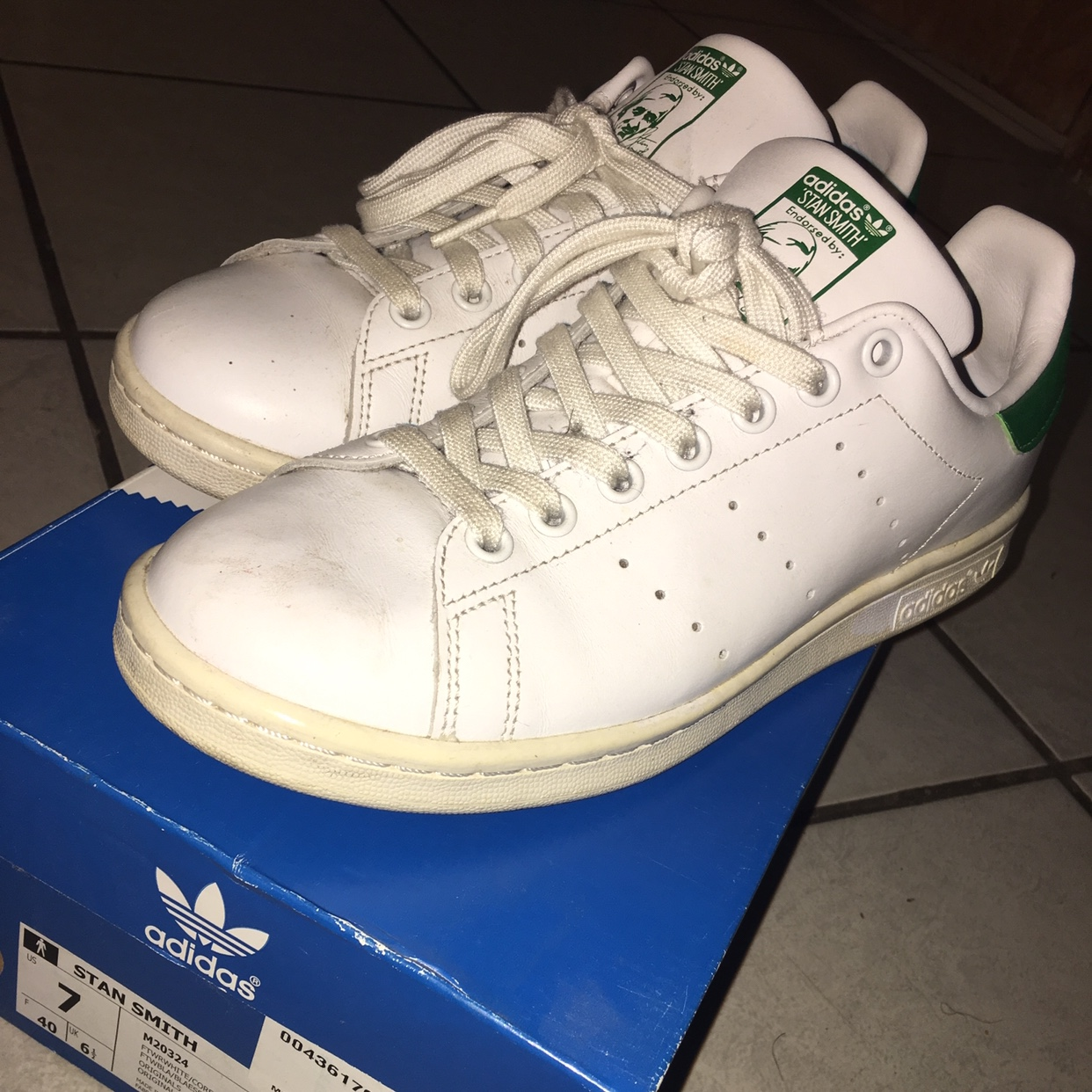 free shipping 333b6 aa8a0 Adidas Stan Smith size 7 men size 8.5... - Depop