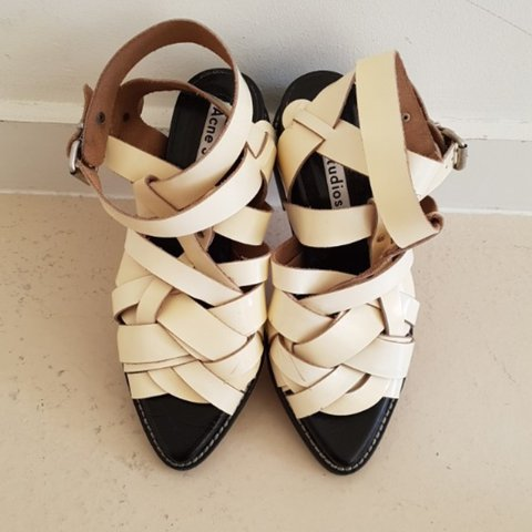 75c2f134e38a Acne Studios Gladiator Sandals Size  39 Original price  460 - Depop