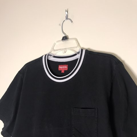 2a51a0cf6833 @jpavia24. 3 months ago. Lorton, United States. ON HOLD DO NOT BUY Black  Supreme Striped Collar Tee!