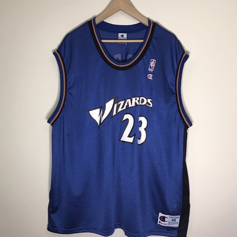bb3f8550ca5 Vintage Washington Wizards Michael Jordan Champion Jersey In - Depop