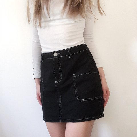 ce84338e2 @moncherry. last year. United Kingdom. Urban Outfitters BDG black carpenter  skirt ...
