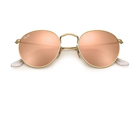 462cc98deda3e Ray Ban Round Rose Gold Flash Great condition Hardly worn in - Depop