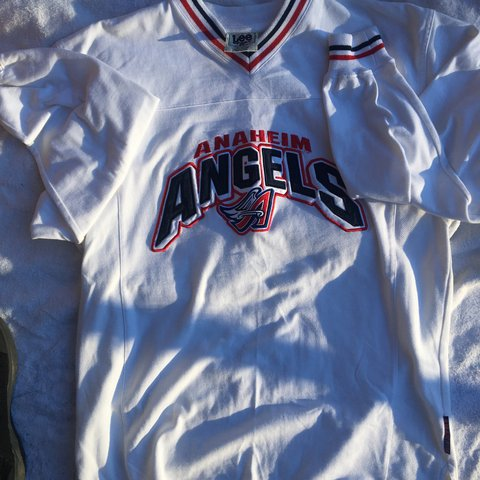 399344a9e74 Vintage Lee Sports Anaheim Angels Pullover. Size L.  mlb - Depop