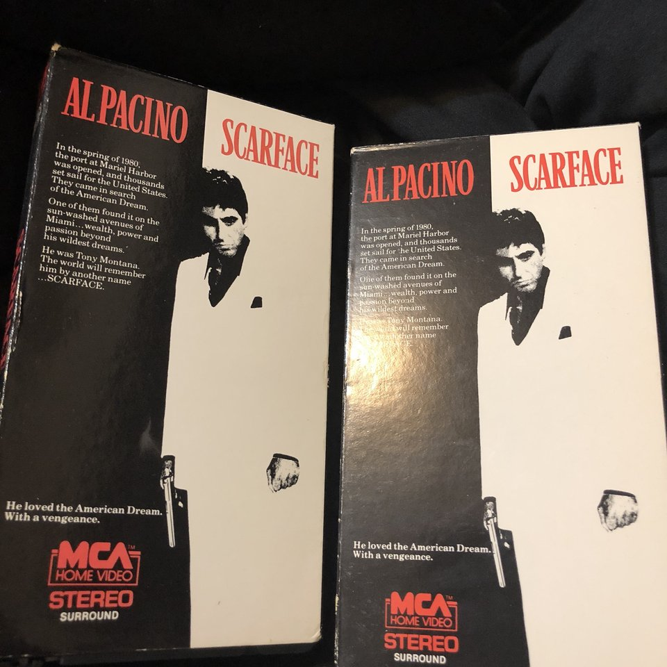 VHS GRAIL SCARFACE MOVIE GREAT COLLECTORS PIECE     - Depop
