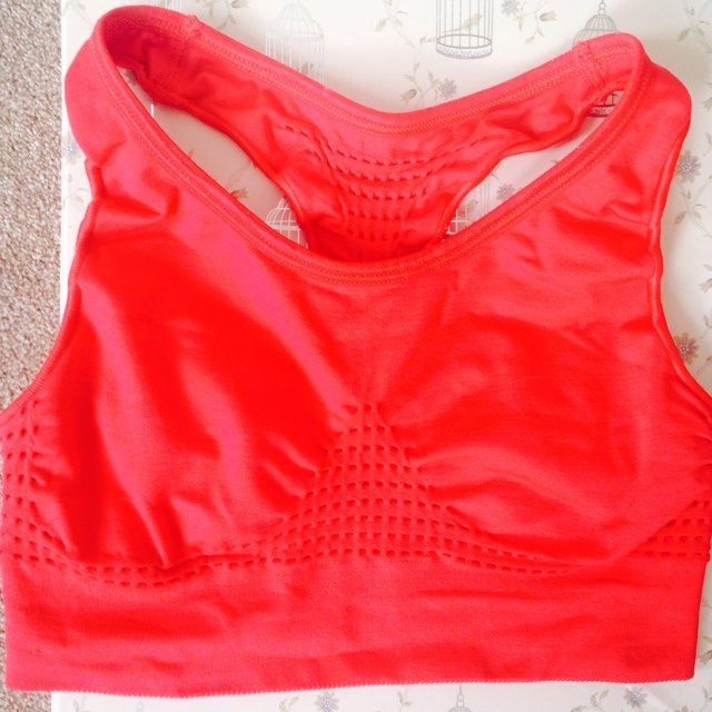 138d2a0a58 Sweaty Betty bright red sports bra crop top size small