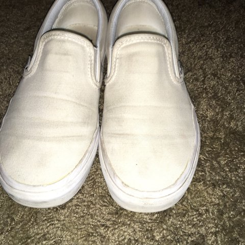 ON HOLD DO NOT BUY‼ ‼ white slip on vans size 6 women s    - Depop c3f98c53f