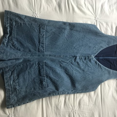 79125adbdc32 Super cute denim jumpsuit from princess polly! Perfect for a - Depop