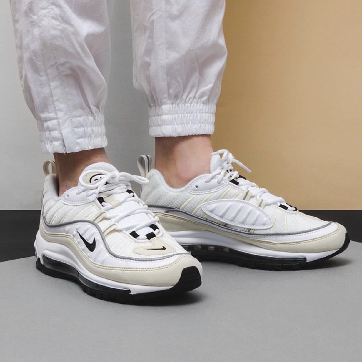 the latest 84916 508a6 Genuine Nike Air Max 98 (white fossil) Size 4.5 - Depop