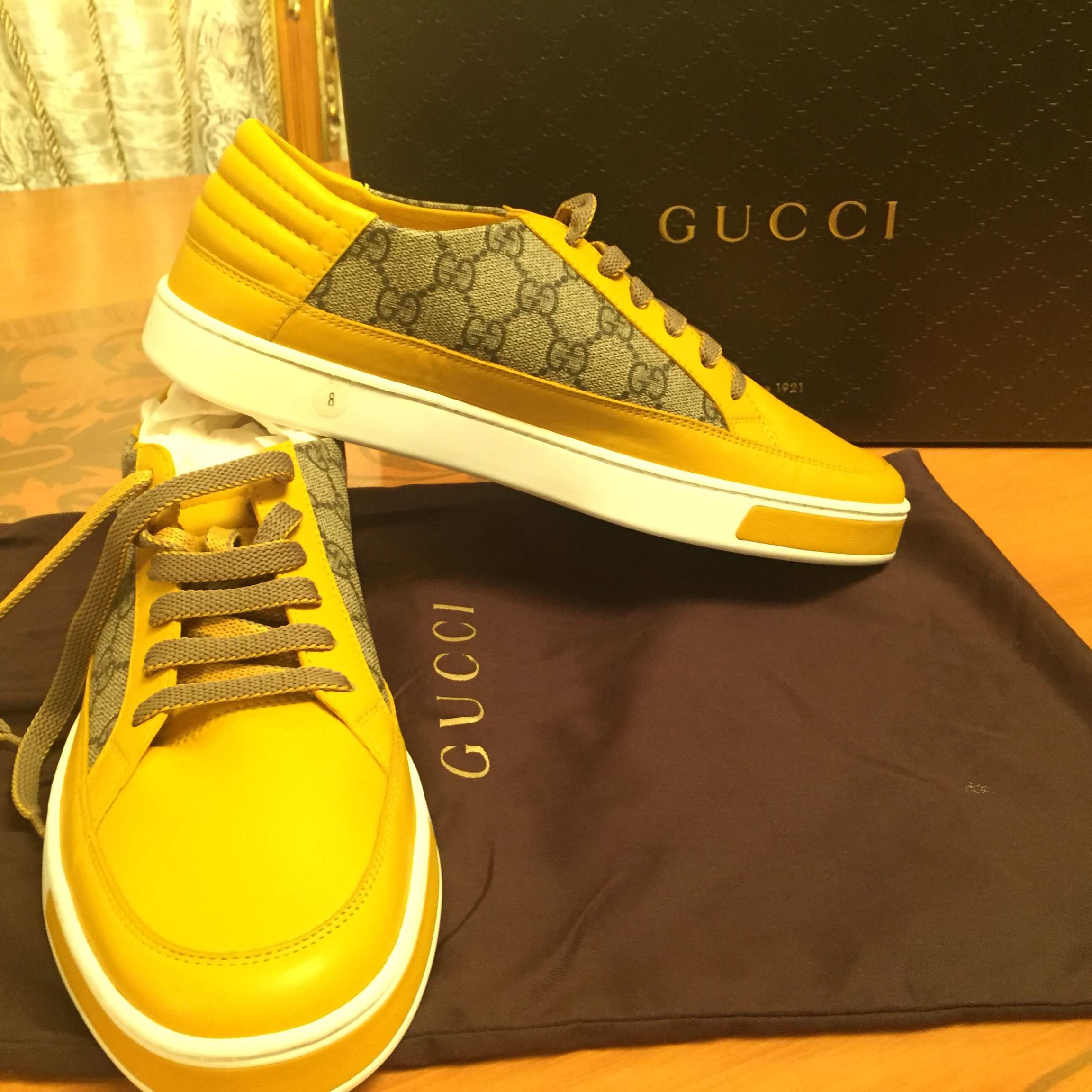 in stock footwear wholesale price Brand new! 100% authentic. Yellow Gucci sneakers.... - Depop