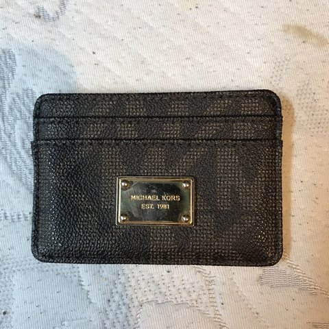 b203cbfeb27d Michael Kors Card holder. Gently used. Small scratches on - Depop