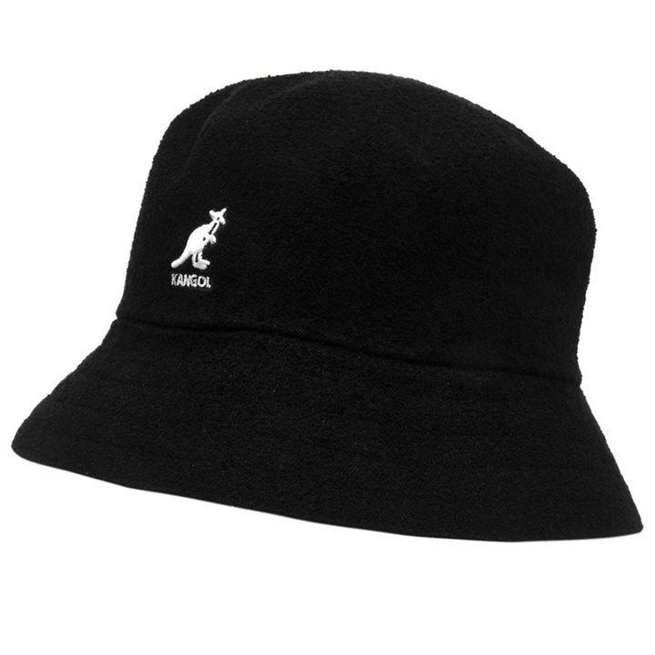 BLACK KANGOL BOUCLE BUCKET HAT BRAND NEW WITH TAGS Size S M - Depop f8a7652b3f0