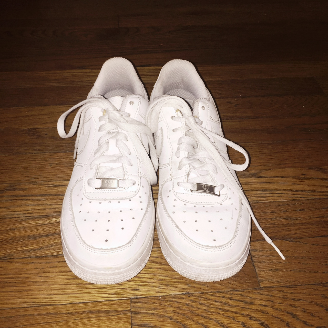 size 40 7a95b 69997 Nike Air Force 1. Used but in good condition! Size 7... - Depop