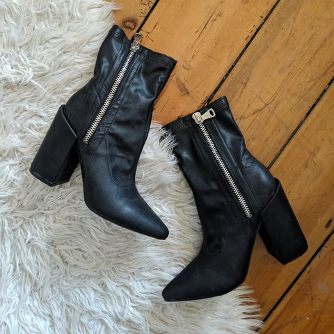 0e35f89d1 @hannahlouisef. 4 months ago. London, Greater London, United Kingdom. black  heeled ankle boots with chunky statement ...