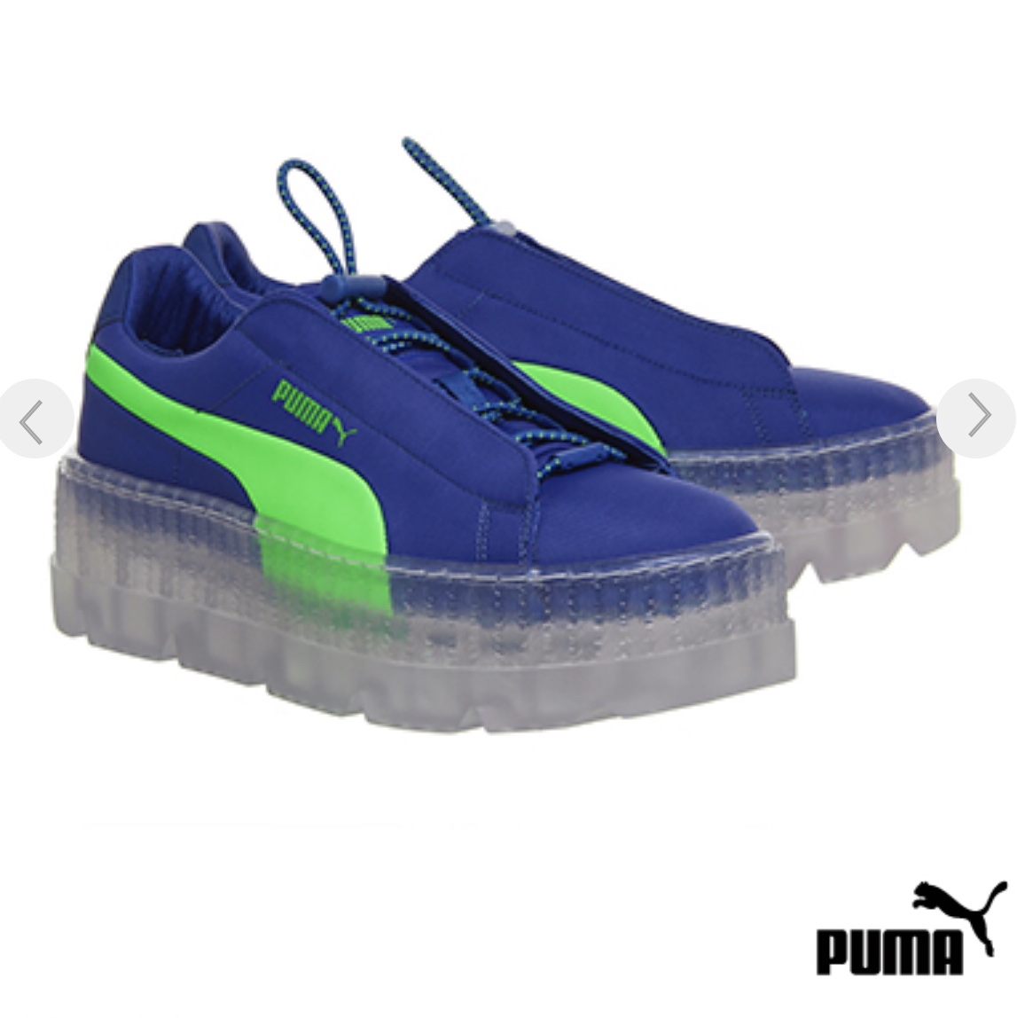reputable site a5230 9a30a Puma Fenty Cleated Creeper Surf Dazzling Blue... - Depop