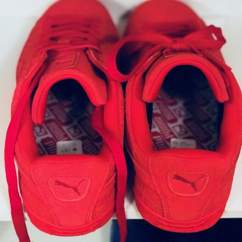 d3d55f1db329  swanktrunk. last year. United States. All red Pumas. Size 13. Never worn.   shoes  puma  sneaker ...