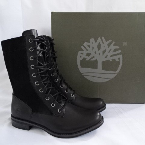 e7d39688 Timberland Boots - Magby Mid Lace. Women UK size 6. Black - Depop