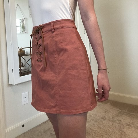 3c9d31755c1 Brand new super cute soft forever 21 lace up skirt!! Size on - Depop