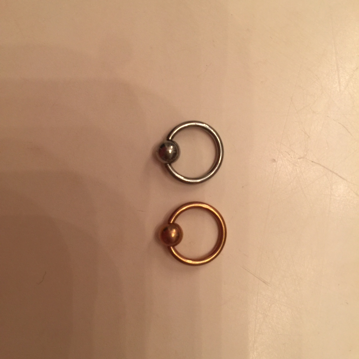 Rose Gold And Silver Captive Bead Septum Rings 925 Depop