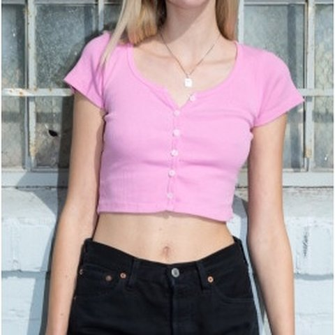 7fd5f8cacd Brandy Melville bubblegum pink Zelly top! Brand new with I - Depop