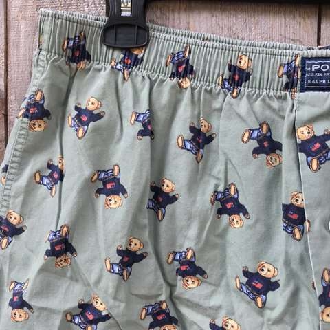 b050e8dfb Ralph Lauren Polo teddy bear boxers I used to wear these as - Depop
