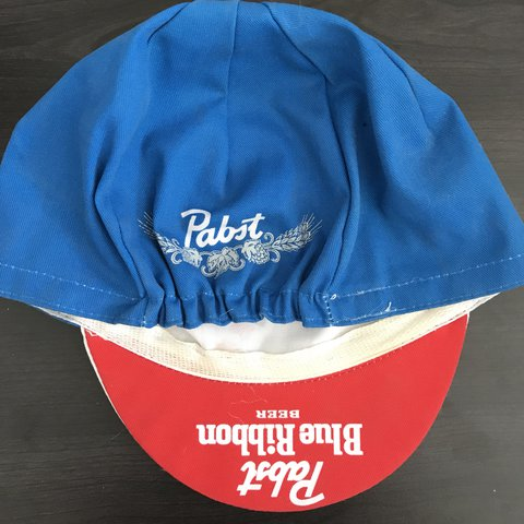 Pabst Blue Ribbon cycling cap made in Italy Never worn ONE - Depop 282f5c0b0