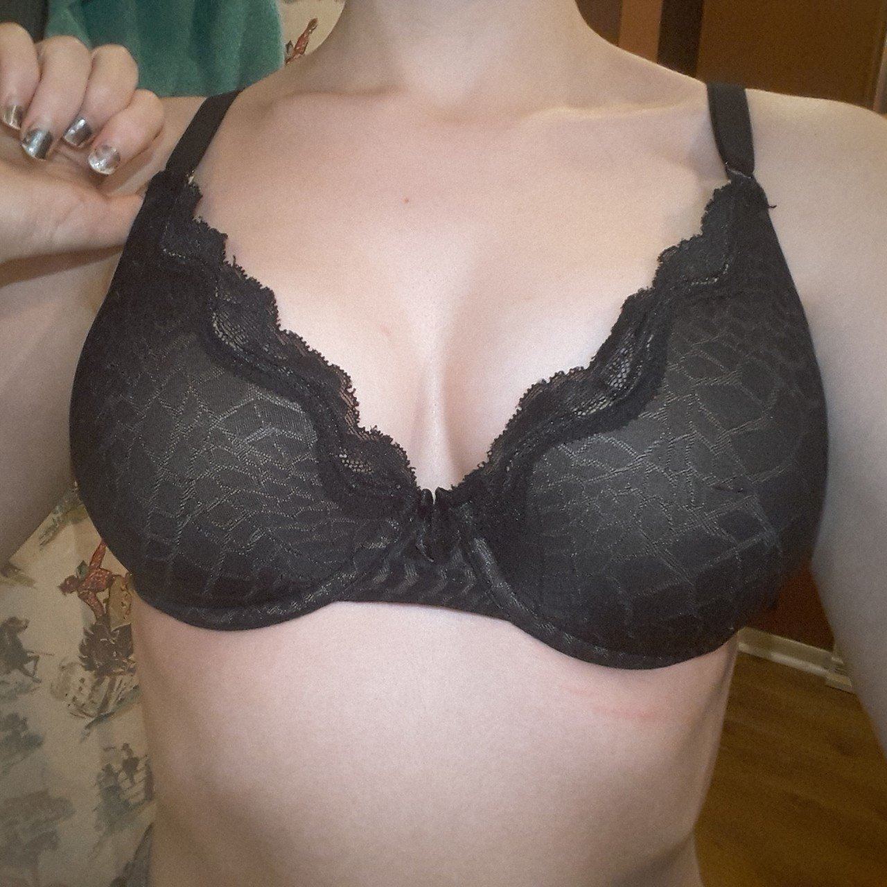 78a406bd182f6 Coral Bra - Grey- 30A-C This wireless mesh bra is made from - Depop